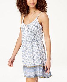 American Rag Juniors' Printed Slip Dress, Created for Macy's