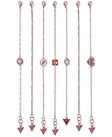 GUESS Rose Gold-Tone 7-Pc. Set Crystal Flex Bracelets
