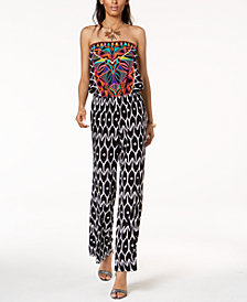 Trina Turk x I.N.C.  Strapless Print Jumpsuit, Created for Macy's