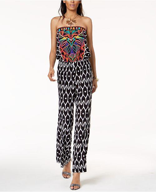 68b28288f36 ... INC International Concepts Trina Turk x I.N.C. Strapless Print Jumpsuit