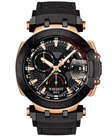 Tissot Men's Swiss Chronograph T-Race MotoGP Black Synthetic Strap Watch 47.6mm - Limited Edition