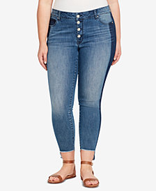 WILLIAM RAST Plus Size Step-Hem Skinny Jeans