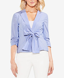 Vince Camuto 3/4-Sleeve Bow-Tie Jacket