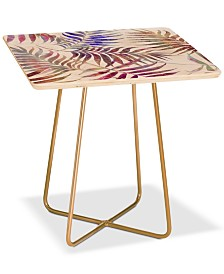 Deny Designs Reeya Tropical White Square Side Table