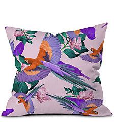 Deny Designs Parrot Paradise Throw Pillow