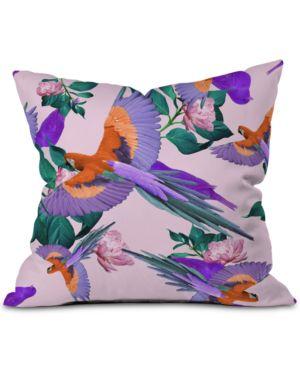 DENY DESIGNS | Deny Designs Parrot Paradise Throw Pillow | Goxip