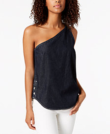 Calvin Klein Jeans Cotton One-Shoulder Top