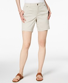 Style & Co Petite Relaxed-Fit Shorts, Created for Macy's