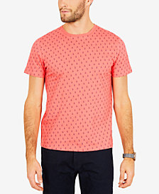 Nautica Men's Big & Tall Anchor-Print Cotton T-Shirt