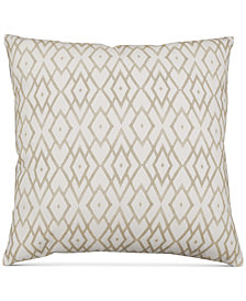 "Hallmart Collectibles Beige Printed 20"" Square Decorative Pillow"