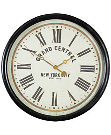 "Uttermost Leonor ""Grand Central"" Wall Clock"