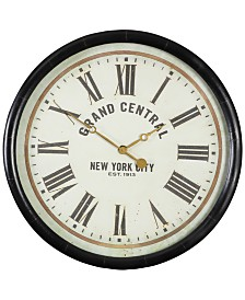 """Uttermost Leonor """"Grand Central"""" Wall Clock"""
