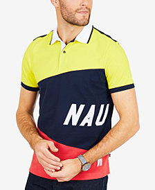 Nautica Men's Big & Tall  Colorblocked Signature Classic Fit Polo