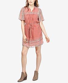 Lucky Brand Jenna Mixed-Print Dress