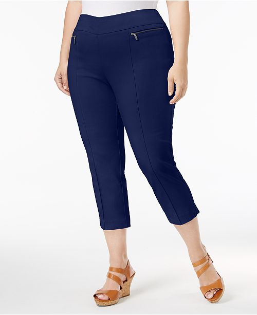 Style & Co Plus Size Pull-On Capri Pants, Created for Macy's