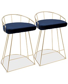 Canary Counter Stool (Set of 2), Quick Ship