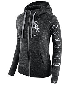 Nike Women's Chicago White Sox Gym Vintage Full Zip Hooded Sweatshirt