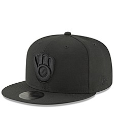 Milwaukee Brewers Blackout 59FIFTY FITTED Cap