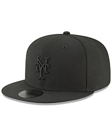 competitive price 4250b caa01 New Era New York Mets Blackout 59FIFTY FITTED Cap
