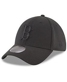 New Era Boston Red Sox Blackout 39THIRTY Cap