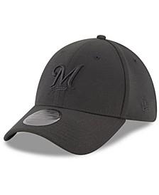 Milwaukee Brewers Blackout 39THIRTY Cap
