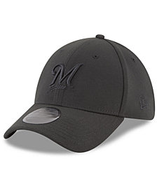 New Era Milwaukee Brewers Blackout 39THIRTY Cap