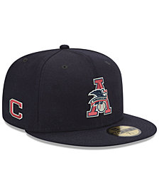 New Era Cleveland Indians League Front 59FIFTY FITTED Cap