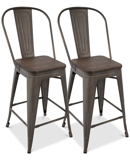 Lumisource Oregon Counter Stool (Set of 2)