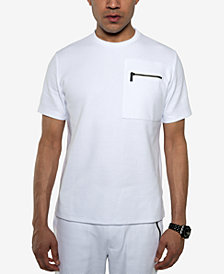 Sean John Men's White Party Ottoman-Knit Pocket T-Shirt, Created for Macy's