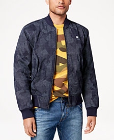 G-Star RAW Men's Rackam Pixelated Camouflage-Print Bomber Jacket, Created for Macy's