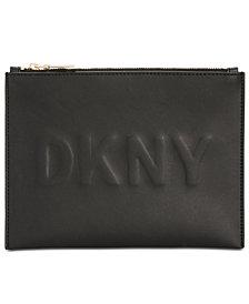 DKNY Mott Debossed Logo Pouch, Created for Macy's