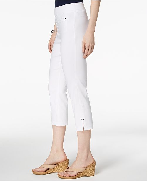 White Macy's Created Capri On Pull for Bright Style amp; Pants Co OBqwpxW4vP