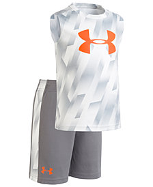 Under Armour Toddler Boys 2-Pc. Logo-Print Tank & Shorts Set