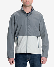 Michael Kors Men's Big & Tall Colorblocked Logo-Print Windslicker Jacket