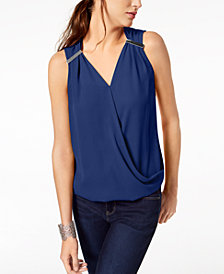 I.N.C. Faux-Wrap Hardware Top, Created for Macy's