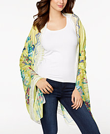 I.N.C. Hummingbird Floral Sarong Cover-Up & Wrap, Created for Macy's