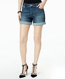 "I.N.C. Side-Stripe 5"" Denim Shorts, Created for Macy's"