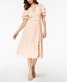 Taylor Lace Midi Wrap Dress