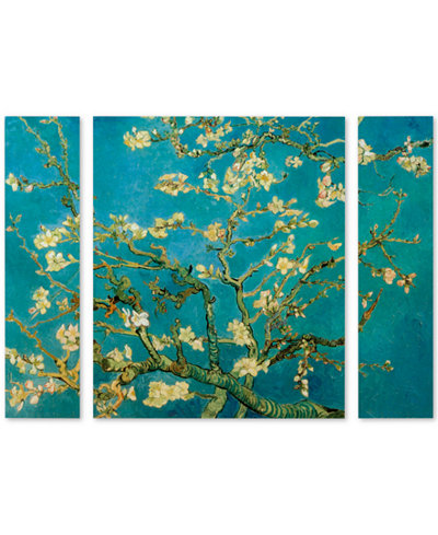 Vincent van Gogh 'Almond Branches In Bloom' Small Multi-Panel Wall Art Set