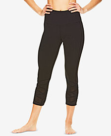 Gaiam Bailey Mesh-Trimmed High-Rise Capri Leggings