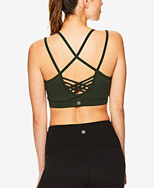 Gaiam Stella Strappy Compression Medium-Impact Sports Bra