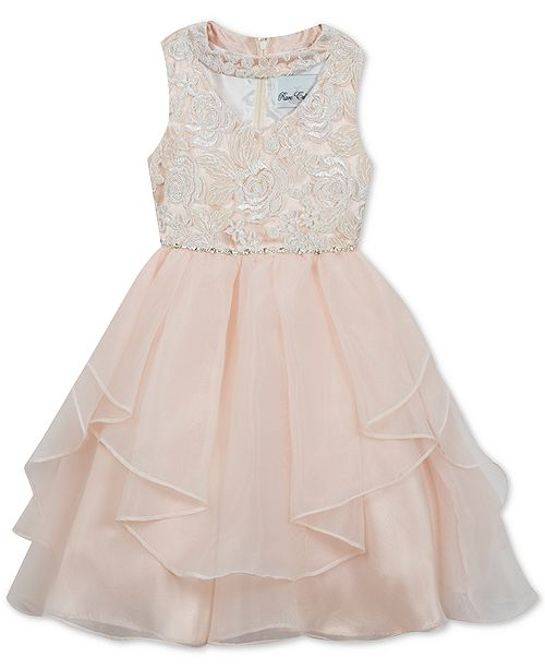 abe6314c5e2d0 Rare Editions Little Girls Sequin Embroidered Dress & Reviews ...
