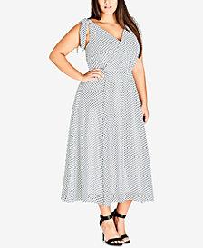City Chic Trendy Plus Size Tie-Strap Maxi Dress