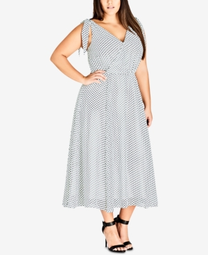 City Chic TRENDY PLUS SIZE TIE-STRAP MAXI DRESS