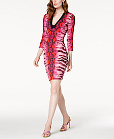 Just Cavalli Namibia-Print Jersey Dress