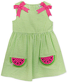 Rare Editions Little Girls Gingham Watermelon Dress