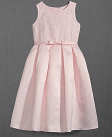 Us Angels Embroidered Organza Satin Dress, Little Girls
