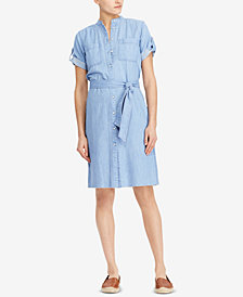 Lauren Ralph Lauren Petite Twill Cotton Shirtdress