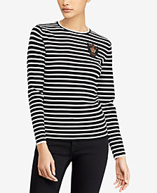 Polo Ralph Lauren Bullion-Patch Striped Top