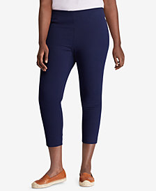 Lauren Ralph Lauren Plus Size Stretch Twill High Rise Skinny Pant